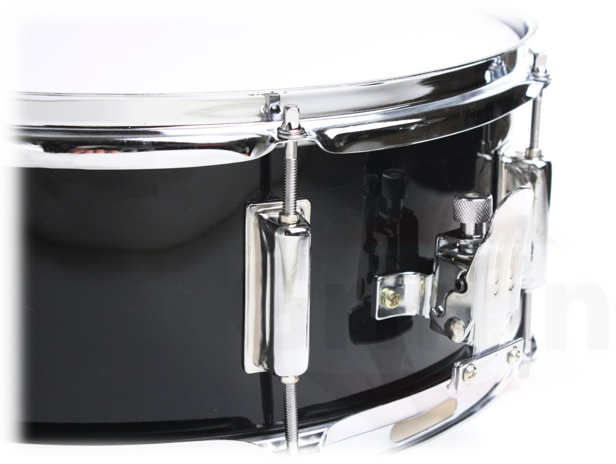 griffin snare drum poplar wood shell 14 x 5 5 with black pvc glossy finish percussion. Black Bedroom Furniture Sets. Home Design Ideas