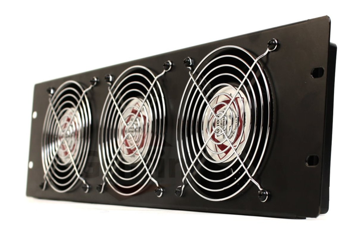 Fans Tractor Supply : Rackmount cooling fan by griffin u ultra quiet triple