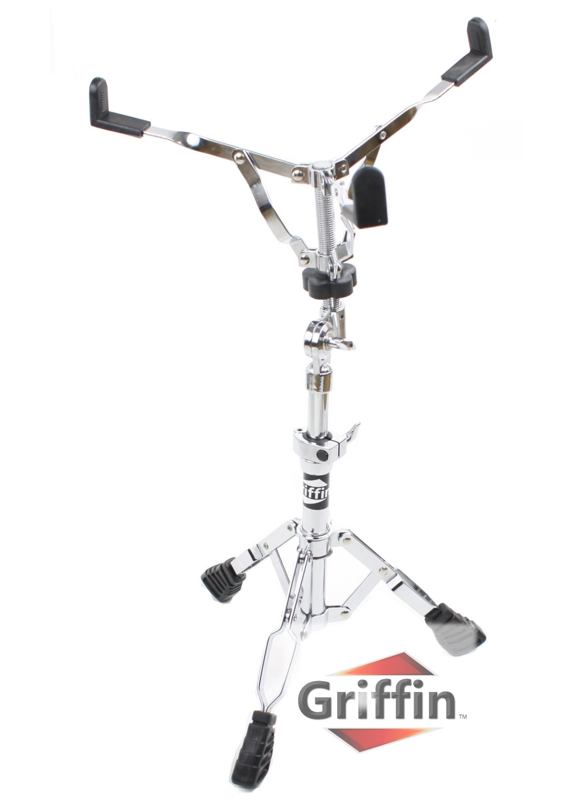 deluxe snare drum stand by griffin percussion hardware kit with key double braced medium. Black Bedroom Furniture Sets. Home Design Ideas
