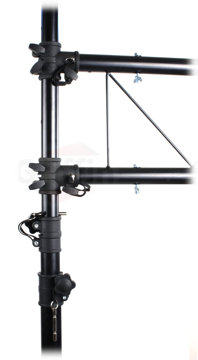steel stage lighting trussing truss dj portable t bar itm w lb system stand