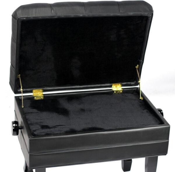 APRL103-BL-Black-piano-bench