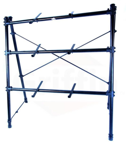 3-Tier-Keyboard-Stand-by-GriffinTriple-A-Frame-Standing-Synthesizer-Mixer-Holder-with-Adjustable-HeightPro-Audio-Stage-B01N3R9OU9-2