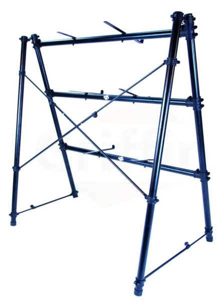 3-Tier-Keyboard-Stand-by-GriffinTriple-A-Frame-Standing-Synthesizer-Mixer-Holder-with-Adjustable-HeightPro-Audio-Stage-B01N3R9OU9-3