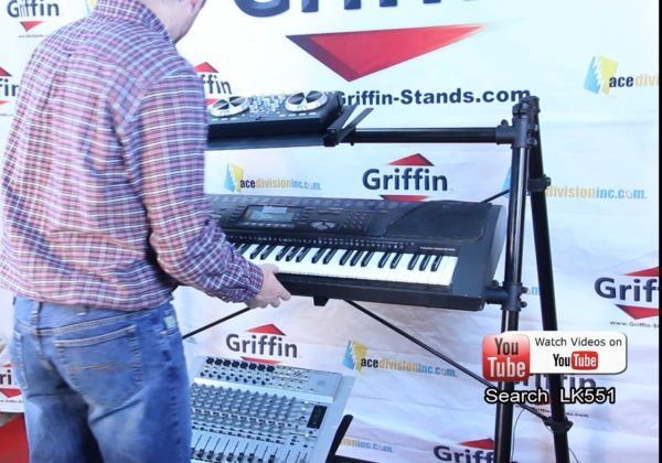 3-Tier-Keyboard-Stand-by-GriffinTriple-A-Frame-Standing-Synthesizer-Mixer-Holder-with-Adjustable-HeightPro-Audio-Stage-B01N3R9OU9-6