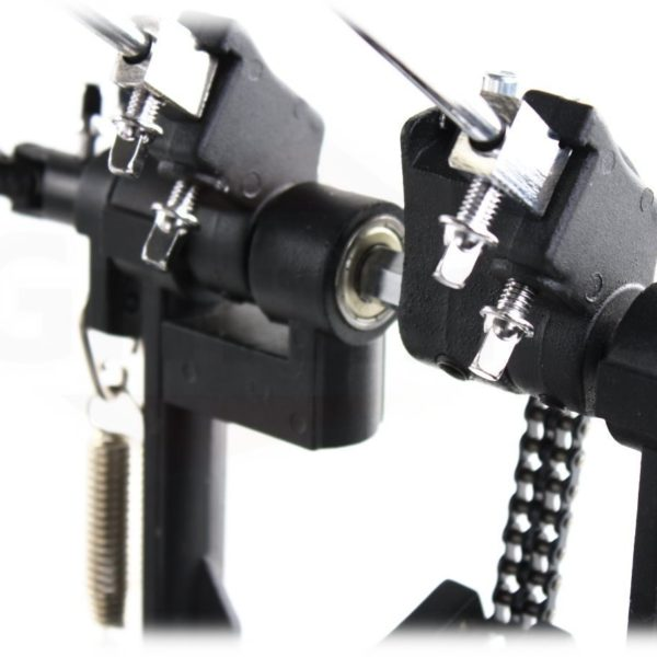 Deluxe-Double-Kick-Drum-Pedal-for-Bass-Drum-by-Griffin-Twin-Set-Foot-PedalQuad-Sided-Beater-HeadsDual-Pedal-Double-C-B01LW9BH6V-5
