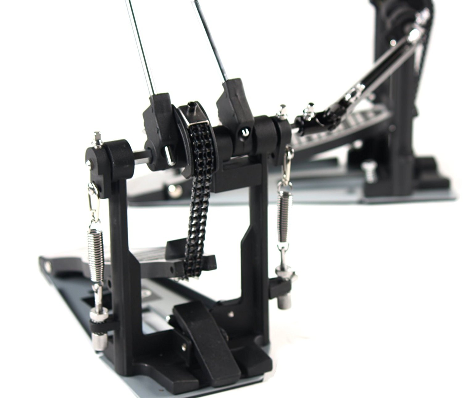 deluxe double kick drum pedal for bass drum by griffin twin set foot pedal quad sided beater. Black Bedroom Furniture Sets. Home Design Ideas
