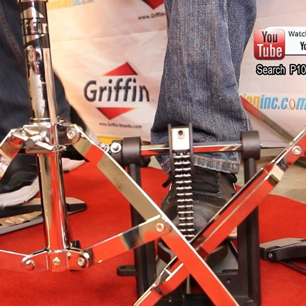 Deluxe-Double-Kick-Drum-Pedal-for-Bass-Drum-by-Griffin-Twin-Set-Foot-PedalQuad-Sided-Beater-HeadsDual-Pedal-Double-C-B01LW9BH6V-8
