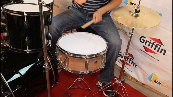 Griffin-Snare-Drum-Poplar-Wood-Shell-14-x-55-with-Flat-Hickory-PVC-Finish-8-Tuning-Lugs-Snare-Strainer-Percus-B00A7K7KSS-4