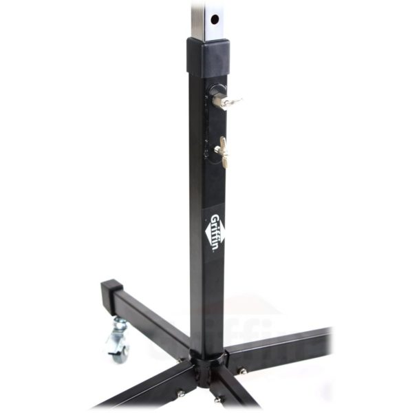 Mobile-Studio-Mixer-Stand-DJ-Cart-by-Griffin-Rolling-Standing-Rack-On-Casters-with-Adjustable-HeightPortable-Turntabl-B004THB824-3