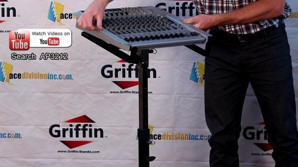 Mobile-Studio-Mixer-Stand-DJ-Cart-by-Griffin-Rolling-Standing-Rack-On-Casters-with-Adjustable-HeightPortable-Turntabl-B004THB824-6