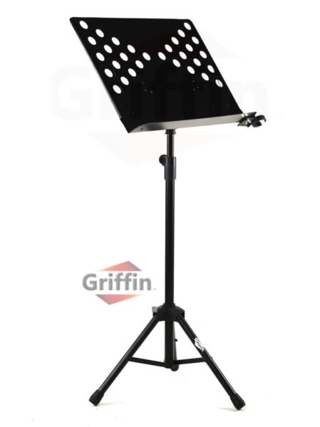 Music-Stand-Deluxe-CONDUCTOR-Sheet-Metal-Tripod-Folding-Stage-Holder-Griffin-B004THBJ7S