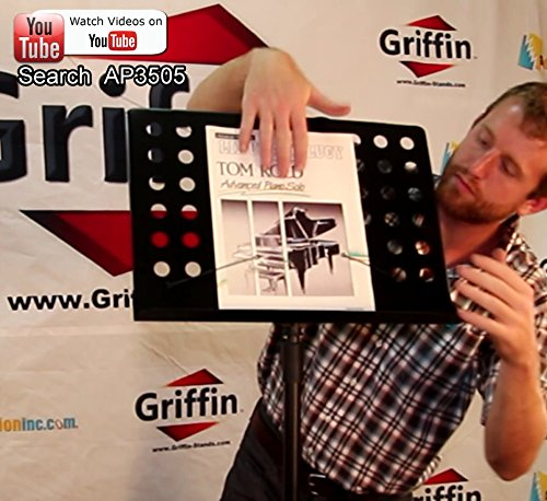 Music-Stand-Deluxe-CONDUCTOR-Sheet-Metal-Tripod-Folding-Stage-Holder-Griffin-B004THBJ7S-6