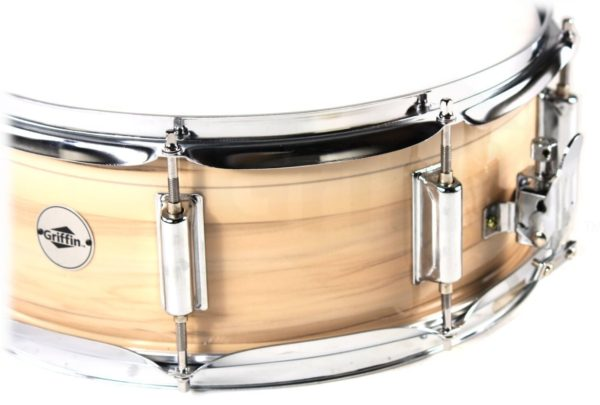 Oak-Wood-Snare-Drum-by-Griffin-PVC-Glossy-Finish-on-Poplar-Wood-Shell-14-x-55-Percussion-Musical-Instrument-with-B00A7K7LYG-2