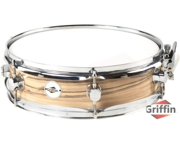 Piccolo-Snare-Drum-13-x-35-by-Griffin-100-Poplar-Shell-with-Oak-Wood-Finish-and-Coated-Drum-Head-Professional-Dr-B005TY7DAM