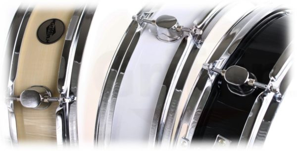 Piccolo-Snare-Drum-13-x-35-by-Griffin-100-Poplar-Wood-Shell-with-Black-Finish-and-Coated-Drum-Head-Professional-B005TY7CYO-3