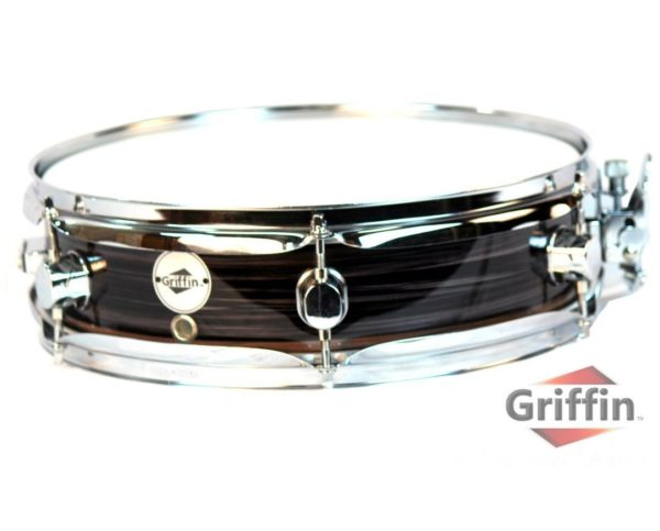 Piccolo-Snare-Drum-13-x-35-by-Griffin-100-Poplar-Wood-Shell-with-Zebra-Wood-Finish-and-Coated-Drum-Head-Professi-B00A7K7F3S