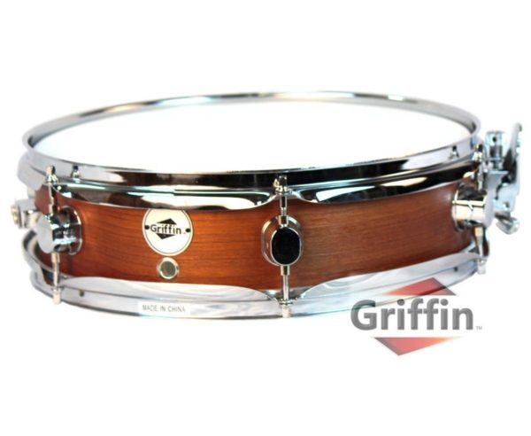 Piccolo-Snare-Drum-13-x-35-by-Griffin100-Poplar-Wood-Shell-with-Flat-Hickory-Finish-and-Coated-Drum-Head-Professi-B00A7K7FN8