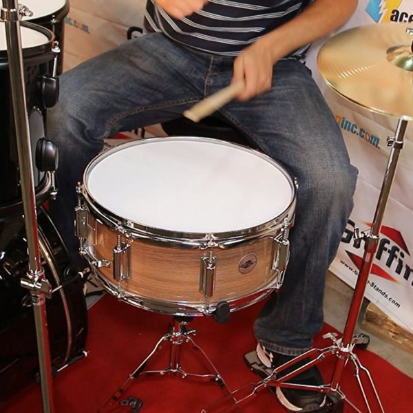 Popcorn-Snare-Drum-by-Griffin-Firecracker-10-x-6-Poplar-Shell-with-Zebra-Wood-PVCSoprano-Concert-Percussion-Musical-B00A7K7DL2-4