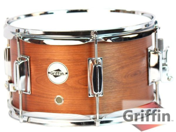 Popcorn-Snare-Drum-by-GriffinSoprano-Firecracker-10-x-6-Poplar-Wood-Shell-with-Hickory-PVCConcert-Percussion-Musical-B00A7K7D5S