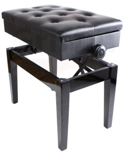 Premium-Adjustable-Antique-Piano-Bench-By-Griffin-Black-Solid-Wood-Frame-Luxurious-Comfortable-Leather-Padded-Seat-B004UMZLOO-2