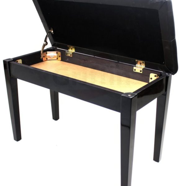 Premium-Antique-Black-Piano-Bench-By-Griffin-Solid-Wood-Frame-Luxurious-Comfortable-Leather-Padded-Duet-Double-Seat-B005863K1M-2