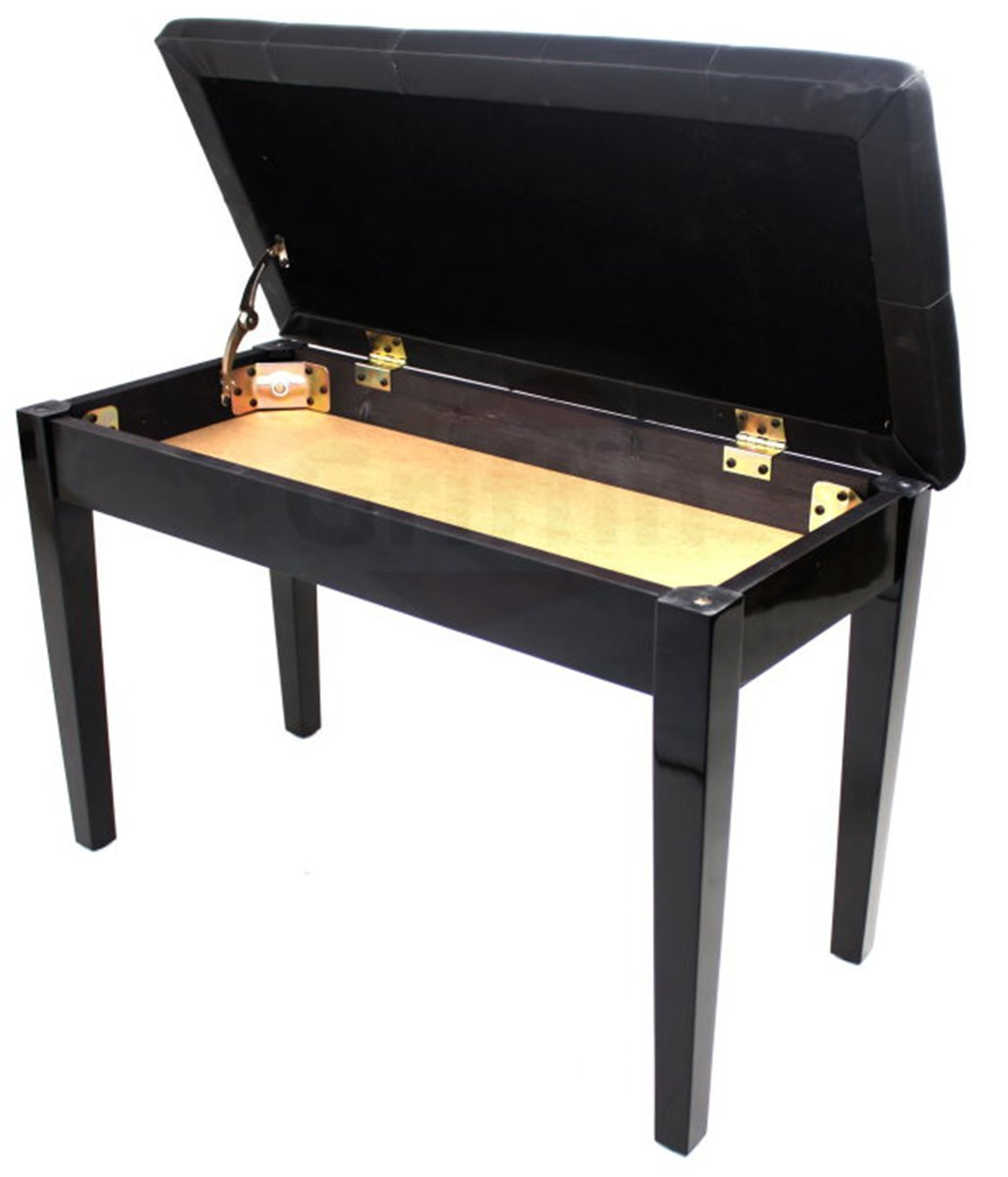 Premium Antique Black Piano Bench By Griffin Solid Wood