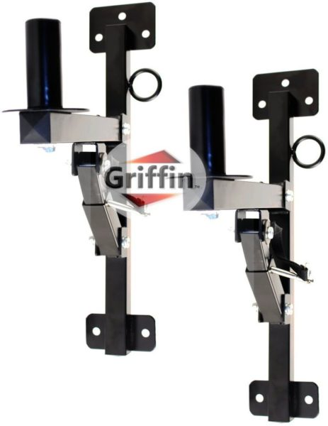 Premium-PA-Speakers-Wall-Mount-Brackets-By-Griffin-Set-Of-2-Professional-All-Steel-Audio-Speaker-Holders-With-Securi-B0057RUTXO