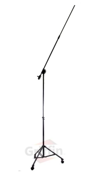 Professional-Studio-Rolling-Microphone-Boom-Stand-with-Casters-by-Griffin-Heavy-Duty-Recording-Mic-Holder-Tripod-on-Wh-B00GBE7MG4-5