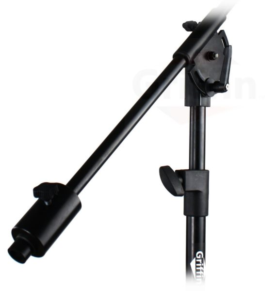 Professional-Studio-Rolling-Microphone-Boom-Stand-with-Casters-by-Griffin-Heavy-Duty-Recording-Mic-Holder-Tripod-on-Wh-B00GBE7MG4-6