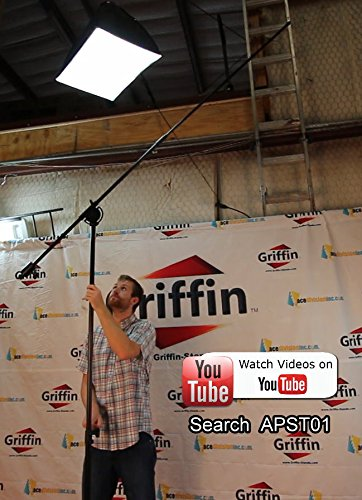 Professional-Studio-Rolling-Microphone-Boom-Stand-with-Casters-by-Griffin-Heavy-Duty-Recording-Mic-Holder-Tripod-on-Wh-B00GBE7MG4-8