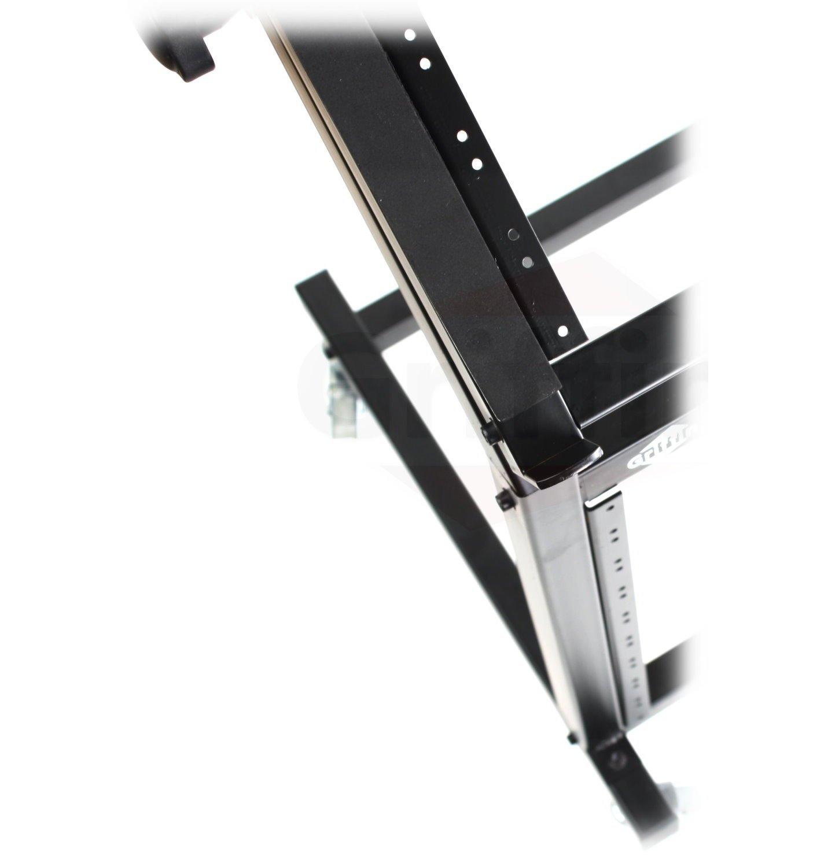 Rack Mount Rolling Stand and Adjustable Top Mixer Platform