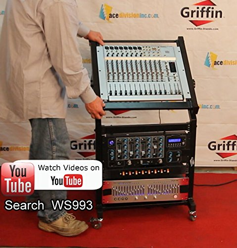 Rack-Mount-Rolling-Stand-and-Adjustable-Top-Mixer-Platform-Mount-19U-by-GriffinCart-Holder-for-Music-Studio-Pro-Audio-R-B004THBOPK-6