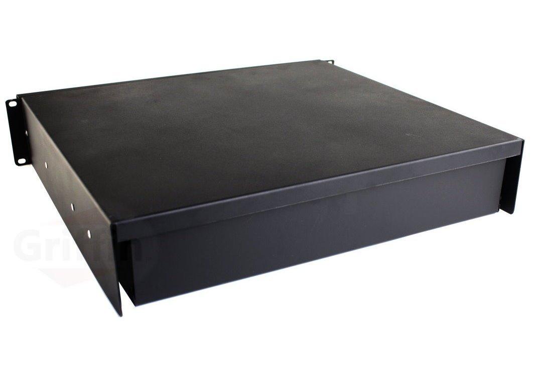 recording studio rack mount drawer 2u by griffin pro audio deep rack rail cabinet shelf for. Black Bedroom Furniture Sets. Home Design Ideas