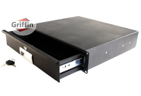 Recording-Studio-Rack-Mount-Drawer-2U-by-Griffin-Pro-Audio-Deep-Rack-Rail-Cabinet-Shelf-for-Music-Equipment-Deluxe-L-B0057RW00Y