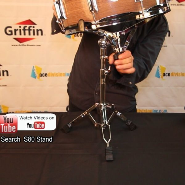 Snare-Drum-Stand-by-Griffin-Deluxe-Percussion-Hardware-Base-Kit-with-Key-Double-Braced-Light-Weight-Mount-for-Stand-B004THBKJA-5