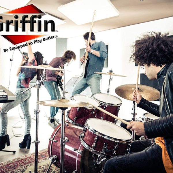 Straight-Cymbal-Stand-by-Griffin-Deluxe-Percussion-Drum-Hardware-Set-for-Mounting-Medium-Duty-Crash-Ride-Splash-Cym-B004THBLIU-8