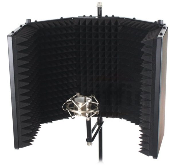 Studio-Microphone-Soundproofing-Acoustic-Foam-Panel-by-Griffin-Soundproof-Filter-Sound-Diffusion-Mic-Booth-Shield-B0082DAL3S-2