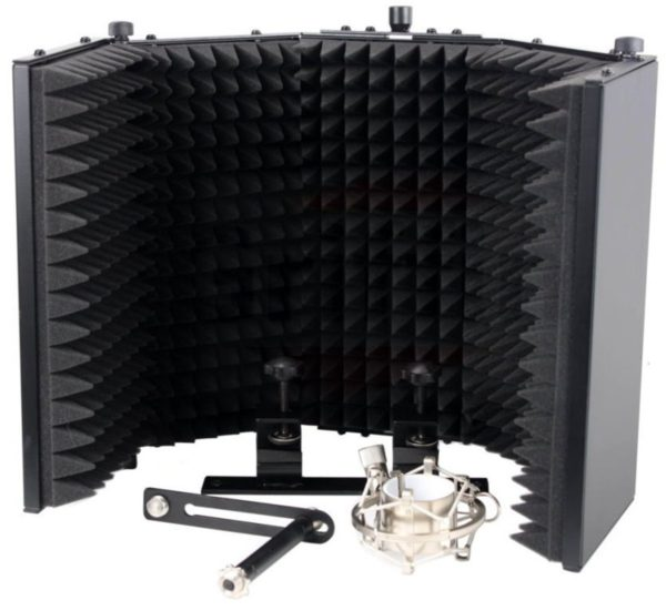 Studio-Microphone-Soundproofing-Acoustic-Foam-Panel-by-Griffin-Soundproof-Filter-Sound-Diffusion-Mic-Booth-Shield-B0082DAL3S-4