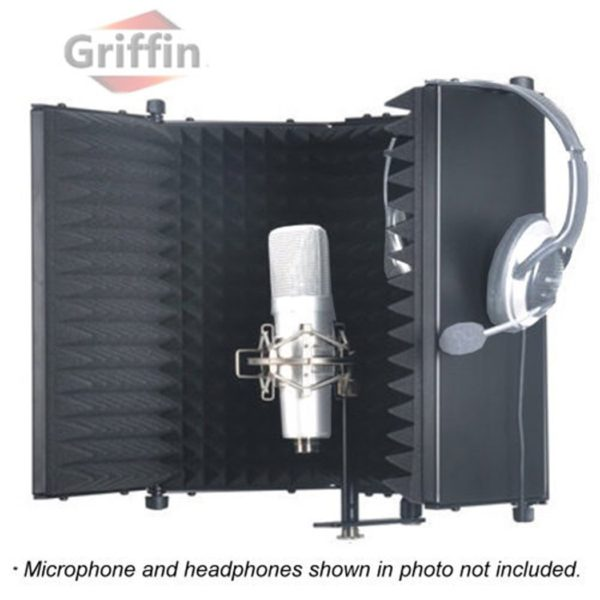 Studio-Microphone-Soundproofing-Acoustic-Foam-Panel-by-Griffin-Soundproof-Filter-Sound-Diffusion-Mic-Booth-Shield-B0082DAL3S