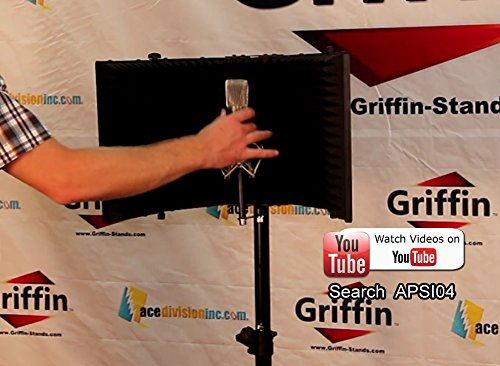 Studio-Microphone-Soundproofing-Acoustic-Foam-Panel-by-Griffin-Soundproof-Filter-Sound-Diffusion-Mic-Booth-Shield-B0082DAL3S-9