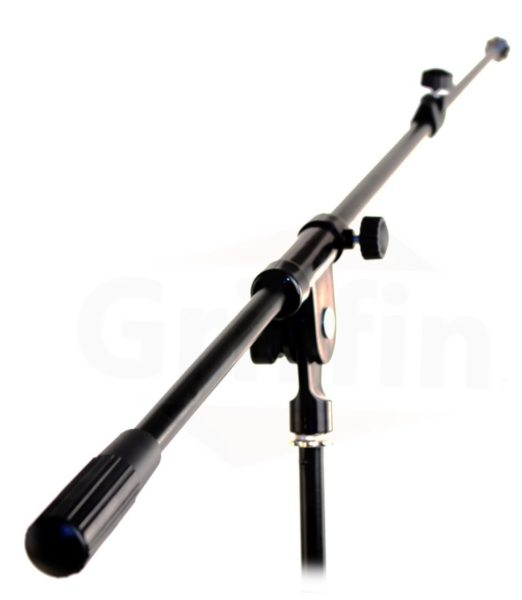 Tripod-Microphone-Boom-Stand-with-XLR-Mic-Cable-Clip-Pack-of-2-by-Griffin-Telescoping-Premium-Quality-for-Studio-B00585PT0I-3