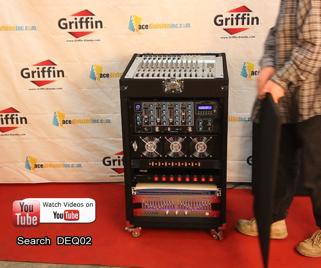 Rackmount Studio Mixer Cabinet Road Case By Griffin 25u