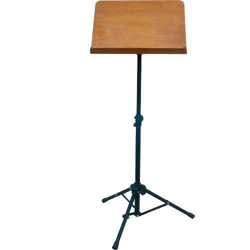 Wood-Music-Stand-by-Griffin-Deluxe-CONDUCTOR-Sheet-Holder-with-Metal-Tripod-Folding-Legs-For-Stage-Performance-Pro-B0716Z7D8J